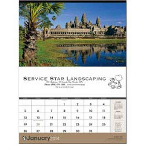 Custom Printed Scenes of the World Executive Calendars