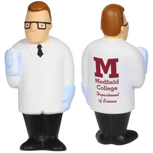 Custom Printed Scientist Shaped Stress Relievers