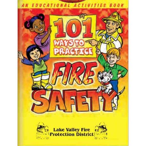 Custom Printed Scratch and Sniff Fire Safety Coloring Books