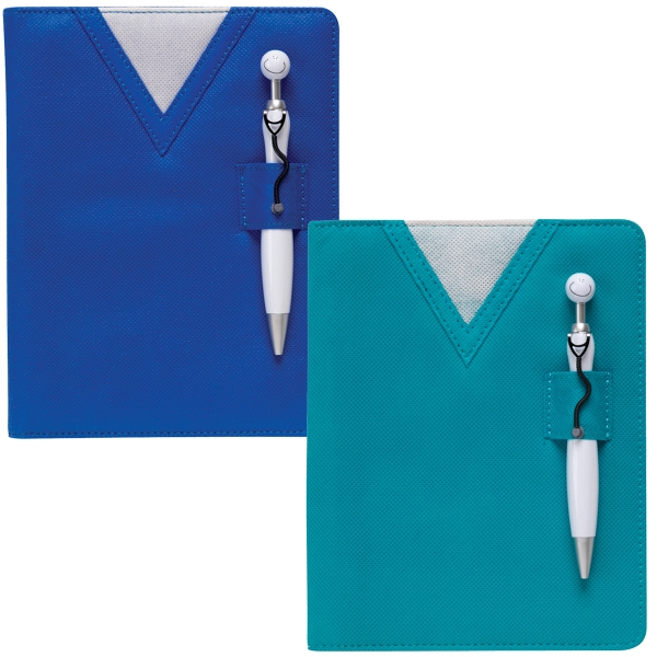 Custom Printed Blue Swanky Note Pads
