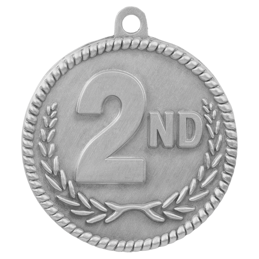 Custom Printed Second Place High Relief Medals