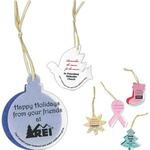 Custom Imprinted Seeded Paper Christmas Ornaments