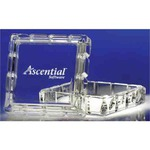 Custom Printed Square Shaped Desk Container Crystal Gifts