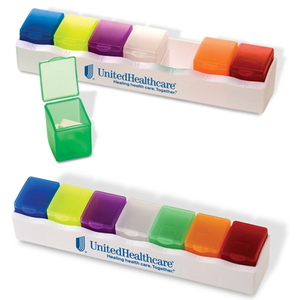3 Day Service Compact Seven Day Pill Holders, Custom Made With Your Logo!