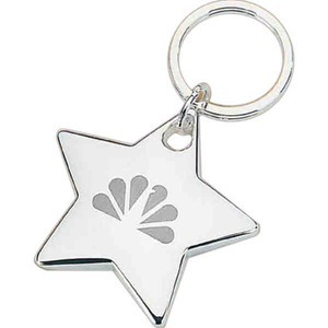 Custom Printed Shiny Star Silver Key Tags