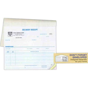 Custom Printed Shipping and Receiving Delivery Receipt Books