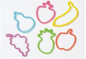Custom Printed Fruit Stock Shaped Silly Bands