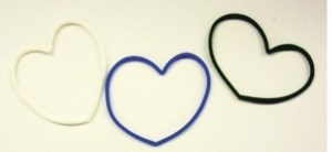 Custom Printed Heart Stock Shaped Silly Bands