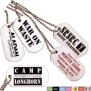 Custom Imprinted Silver Dog Tags