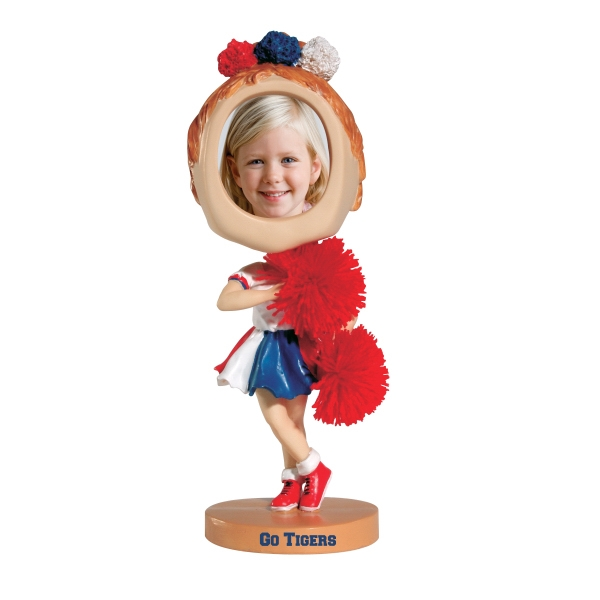 Custom Printed Cheerleader Bobble Head Picture Frames
