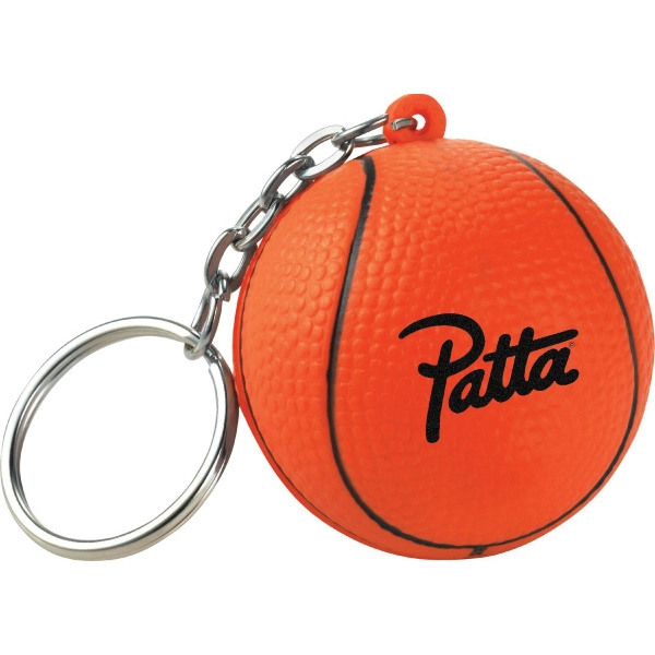 Custom Printed Basketball Sport Themed Keychains