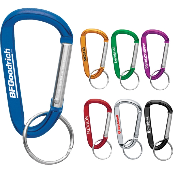 1 Day Service 6mm Aluminum Carabiners, Custom Made With Your Logo!