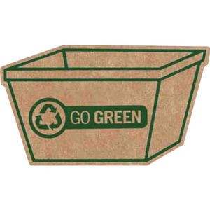 Custom Printed Small Recycle Bin Recycled Material Magnets