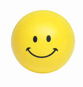 Custom Imprinted Smiley Face Stressball Squeezies