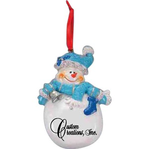 Snowman Christmas Ornaments, Custom Printed With Your Logo!