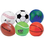 Custom Imprinted Soccer Ball Banks