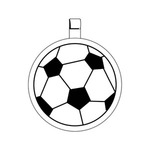 Custom Imprinted Soccer Ball Key Tags
