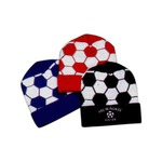 Custom Imprinted Soccer Ball Knit Hats