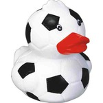 Custom Imprinted Soccer Ball Rubber Duckys