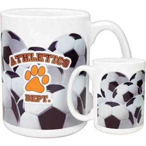 Custom Printed Soccer Ball Shaped Travel Mugs