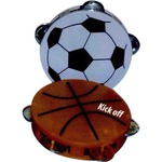 Custom Imprinted Soccer Ball Tambourines