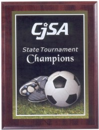 Custom Printed Soccer Photo Sport Plaques