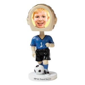 Custom Printed Soccer Player Bobble Head Picture Frames