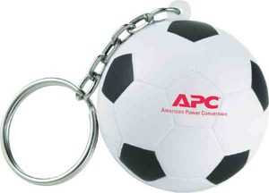 Custom Printed Soccer Sport Themed Keychains