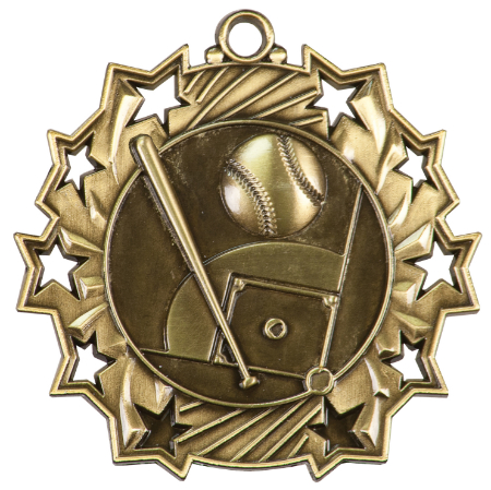 Custom Printed Softball Ten Star Medals