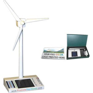 Custom Printed Solar Desktop Wind Turbines