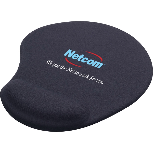 1 Day Service Solid Jersey Gel Mousepads, Custom Made With Your Logo!