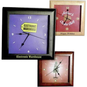 Custom Imprinted Square Wall Clocks
