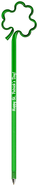 Custom Printed St. Patrick's Day Holiday Bent Pens