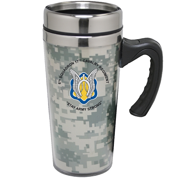Custom Printed Camouflage Travel Mugs