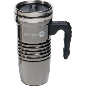 Custom Printed Stainless Steel Chrome Finish Travel Mugs