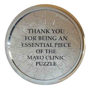 Stainless Steel Coaster Shaped Puzzles, Personalized With Your Logo!