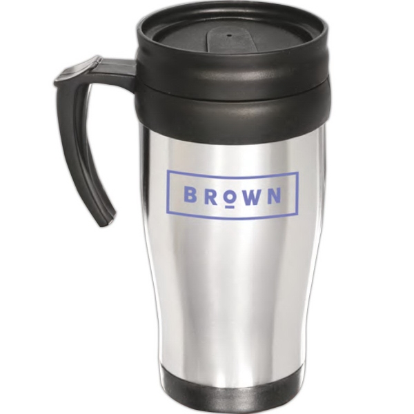 Next Day Service Steel Mugs, Custom Made With Your Logo!
