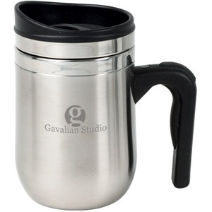 Stainless Steel Desk Mug Travel Mugs, Customized With Your Logo!