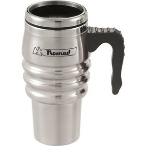 Custom Printed Stainless Steel Dual Wall Twist Action Lid Travel Mugs
