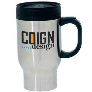 Custom Printed Stainless Steel Foam Insulated Travel Mugs