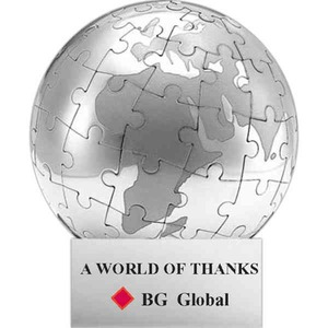 Custom Printed Stainless Steel Globe Shaped Puzzles