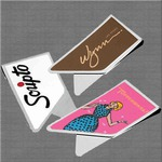 Custom Imprinted Stainless Steel Keepaklip Paperclips