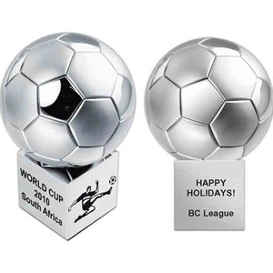 Custom Printed Stainless Steel Soccer Ball Shaped Puzzles