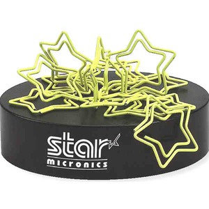 Custom Printed Star Bent Shaped Paperclips with Magnetic Bases