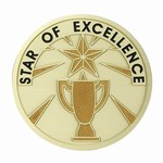 Custom Engraved Star of Excellence Emblems and Seals