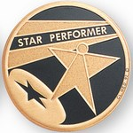 Custom Engraved Star Performer Emblems and Seals