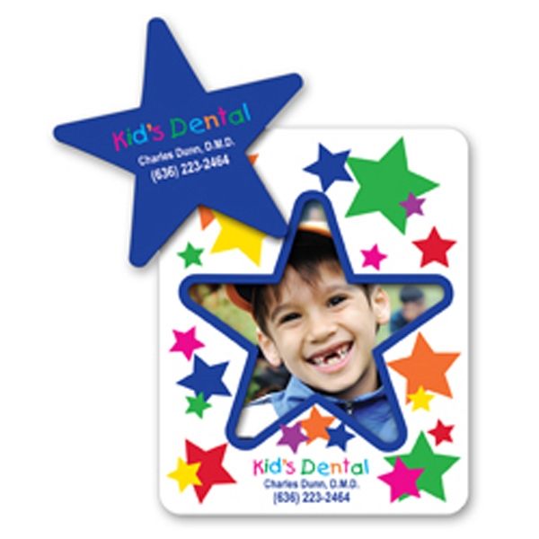 Custom Printed Canadian Manufactured Star Frame Picture Frame Magnets
