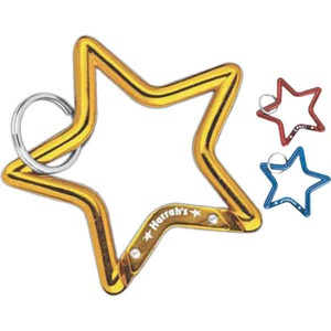 Custom Printed Star Shaped Carabiners