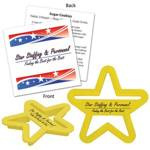 Custom Imprinted Star Shaped Cookie Cutters
