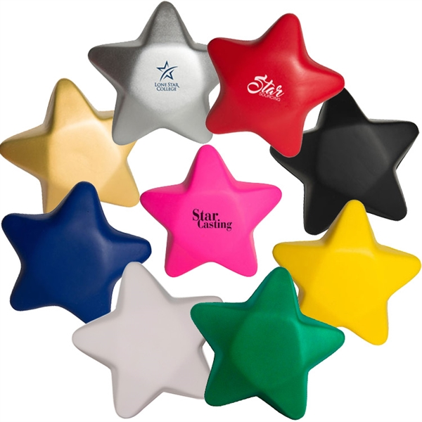 Custom Imprinted Star Stress Relievers